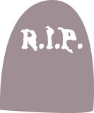 Gravestone - Rest in Peace. Illustration of a gravestone, rest in peace Stock Photography