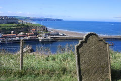 Gravestone by the sea Royalty Free Stock Image