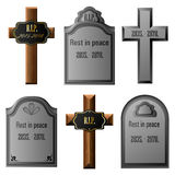 Gravestone set Royalty Free Stock Photo