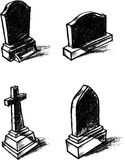 Gravestone Shaded Sketch Royalty Free Stock Photos