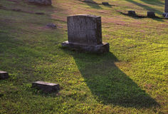Gravestone Shadow Royalty Free Stock Photo
