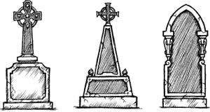Gravestone Sketch Stock Image