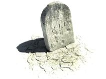 Gravestone on the white background. 3d illustration Royalty Free Stock Photos