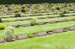 Gravestone of World War II. Grave Stone of The World War II Cemetery, Kanchanaburi, Thailand Royalty Free Stock Photo