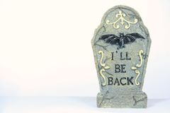 Gravestones. Ready for the Halloween decorations Royalty Free Stock Image