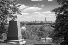 Gravestones in Arlington National Cemetery. Arlington National Cemetery is the most iconic military cemetery in the US Royalty Free Stock Photography