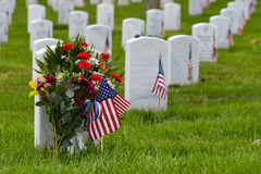 Gravestones in Arlington National Cemetery - Washington DC stock images