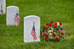 Gravestones in Arlington National Cemetery - Washington DC Stock Image