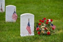 Gravestones in Arlington National Cemetery - Washington DC stock image