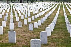 Gravestones on Arlington National Stock Images