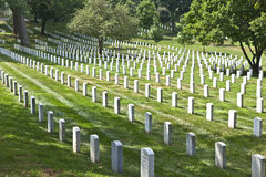 Gravestones on Arlington National Royalty Free Stock Photos
