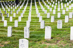 Gravestones on Arlington National Royalty Free Stock Image