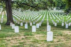 Gravestones on Arlington National Royalty Free Stock Photography
