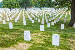 Gravestones on Arlington National Stock Image