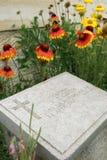 Gravestones in the Beach Cemetery on the Gallipoli Peninsula in Turkey. Gravestones of fallen Australian World War l soldiers in the Beach Cemetery on the Royalty Free Stock Photo