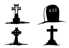 Gravestones Royalty Free Stock Photos