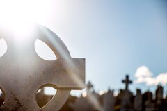 Gravestones at Cemetery Royalty Free Stock Photos