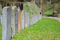Gravestones at cemetery Royalty Free Stock Image