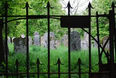 Gravestones in a Cemetery in Scotland stock image