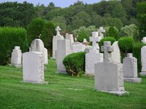 Gravestones. In a Christian cemetery Stock Photo