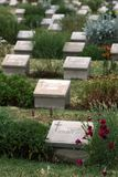 Gravestones at Brown`s Dip Plot at Lone Pine Cemetery on the Gallipoli Peninsula in Turkey. Stock Photography