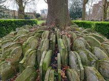 Gravestones. Graveyard ancient old royalty free stock photography