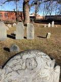 Gravestones. Historic gravestones in Salem, MA Stock Image