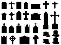 Gravestones i krzyże Zdjęcia Stock