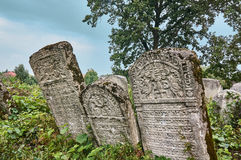 Gravestones in the Jewish cemetery Royalty Free Stock Images