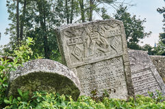 Gravestones in the Jewish cemetery Stock Images