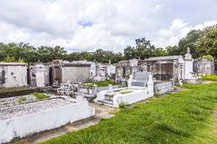 Gravestones at the Lafayette Cemetery No. 1 in New Orleans Royalty Free Stock Photography