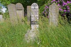 Gravestones at the old cemetery on the Zuiderweg in Hoogeveen Stock Image