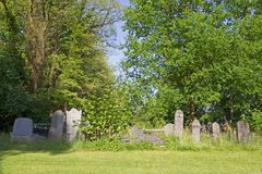 Gravestones at the old cemetery on the Zuiderweg in Hoogeveen Royalty Free Stock Image