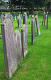 Gravestones stoi w cmentarzu Fotografia Royalty Free