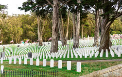 Gravestones on usa national cemetery Royalty Free Stock Photography