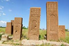 Gravestones w Ahlat Zdjęcia Stock