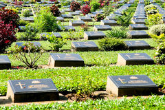 Graveyard. World War Cemetery, the military alliance. 2 The Bridge on the River Kwai Royalty Free Stock Images