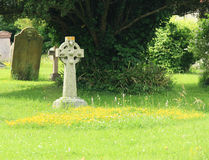 Graveyard. Gravestone in a country Churchyard Royalty Free Stock Image