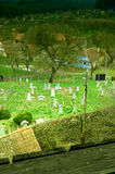 Graveyard. At the border of a traditional village Stock Images