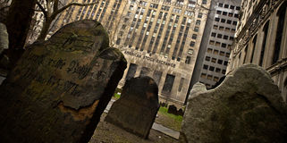 Graveyard and American Stock Exchange Royalty Free Stock Image