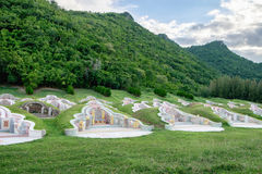 Graveyard arrange chinese culture in valley Stock Photo