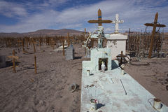 Graveyard in the Atacama Desert of Chile Stock Image