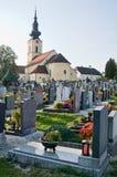 Graveyard in Austria Stock Image