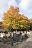 Graveyard and autumn colors Royalty Free Stock Photos