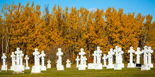 Graveyard in Autumn Royalty Free Stock Photo