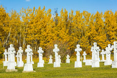 Graveyard in Autumn Royalty Free Stock Photography