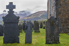 Graveyard Ballachulish with Chapel Royalty Free Stock Photography