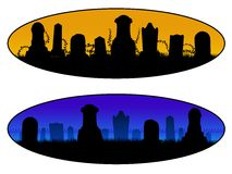 Graveyard Banners Royalty Free Stock Photo