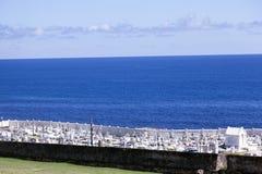 A graveyard at the beach in San Juan, Puerto Rico.  royalty free stock photography