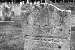 Graveyard in black and white Stock Photos